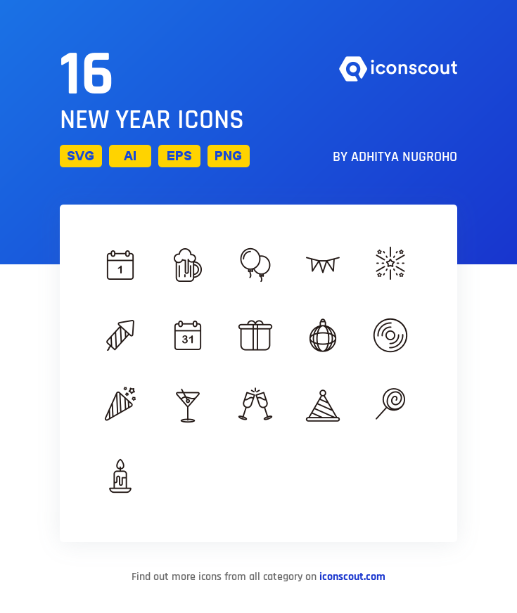 Download New Year Icon Pack Available In Svg Png Eps Ai Icon Fonts Icon Pack Icon Icon Font