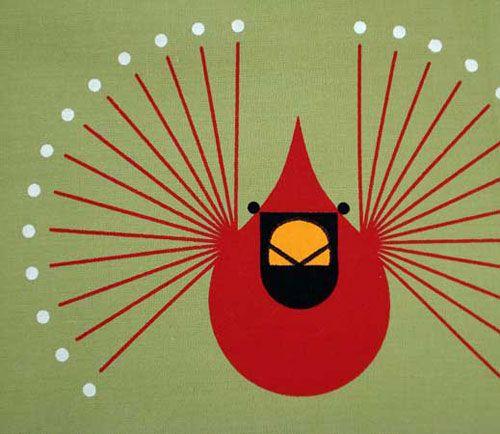 charlie harper cardinal mug | Charley Harper Cardinal Placemat