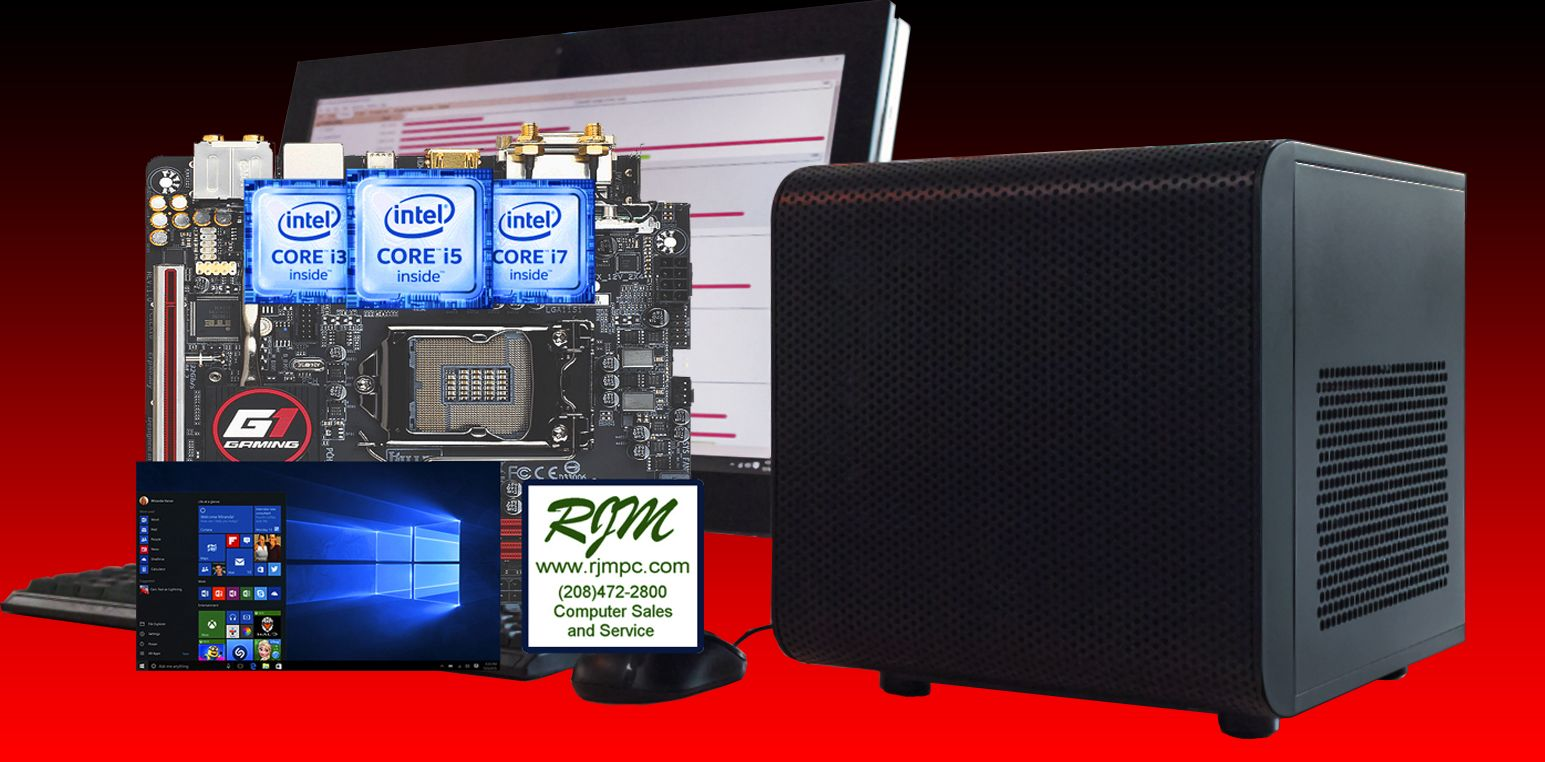 Rjm Computers Boise Order Your Intel 6th Generation Processor Custom Pc With Windows 10 Today Call 472 2800 Computers For Sale Custom Pc Computer