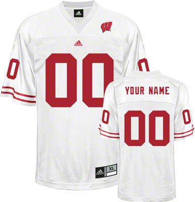 84b949517d0f Wisconsin Badgers Football Jersey Customizable adidas White Replica Football  Jersey