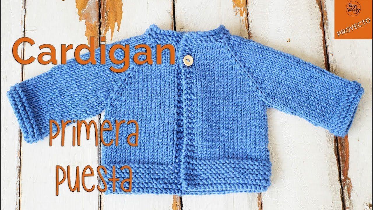 Cardigan Raglan Primera Puesta dos agujas - Parte 1 - YouTube ... e40e5ca7f857