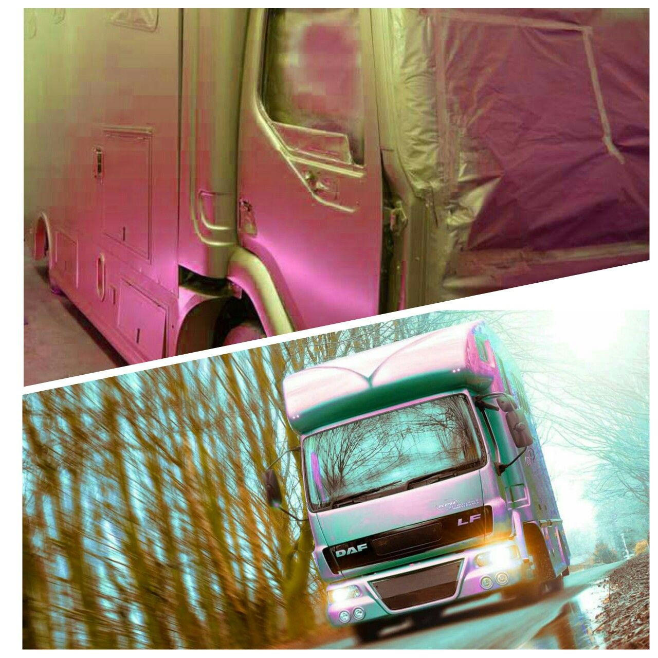 This flip paint looks a different colour from different directions! #KPHLTD #HorseHour #horseboxes #Equihour #EquineHour