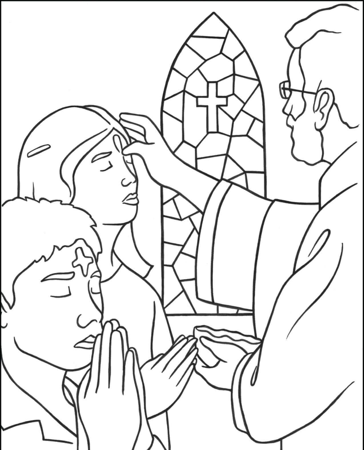 Lent Ash Wednesday Coloring Pages Free Printable Catholic