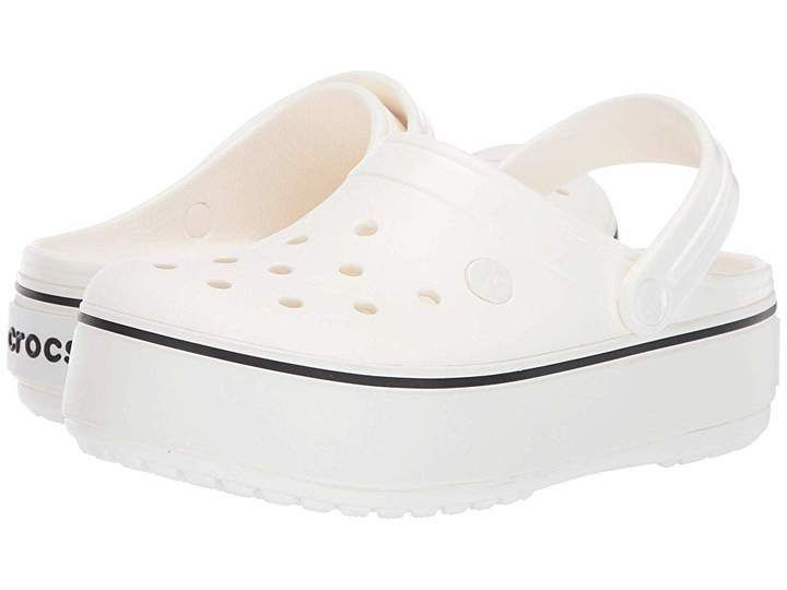 Blossom//White Crocs Crocband Platform Clog 5 US Men 7 US Women