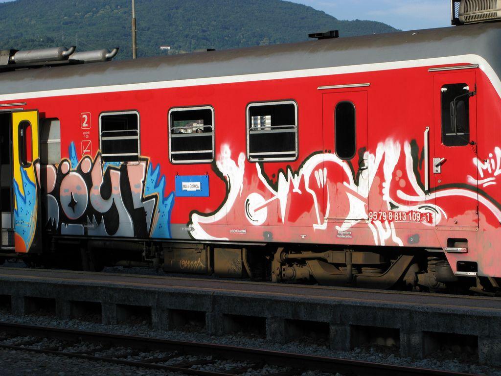 Graffiti Train At Ljubljana S Railway Station Ljubljana Graffiti Urbanart Slovenia Travel Placestovisit Urban Art Graffiti Ljubljana