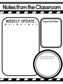 Newsletters for the Classroom: Colors and Stripes