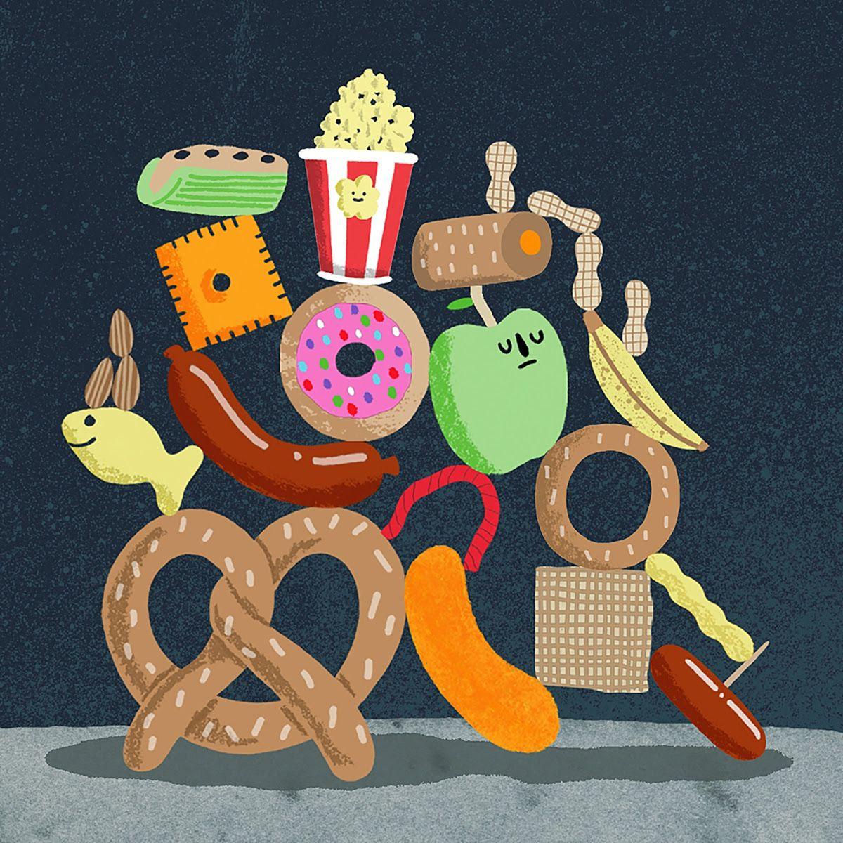 illustration of food Illustration, Graphic design