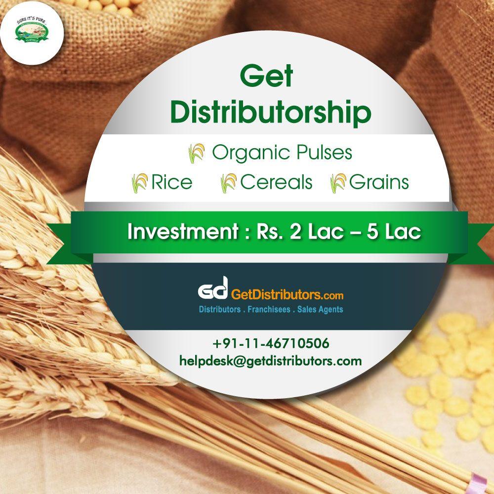 Get the #distributorship of Organic Pulses, Organic Rice, Organic