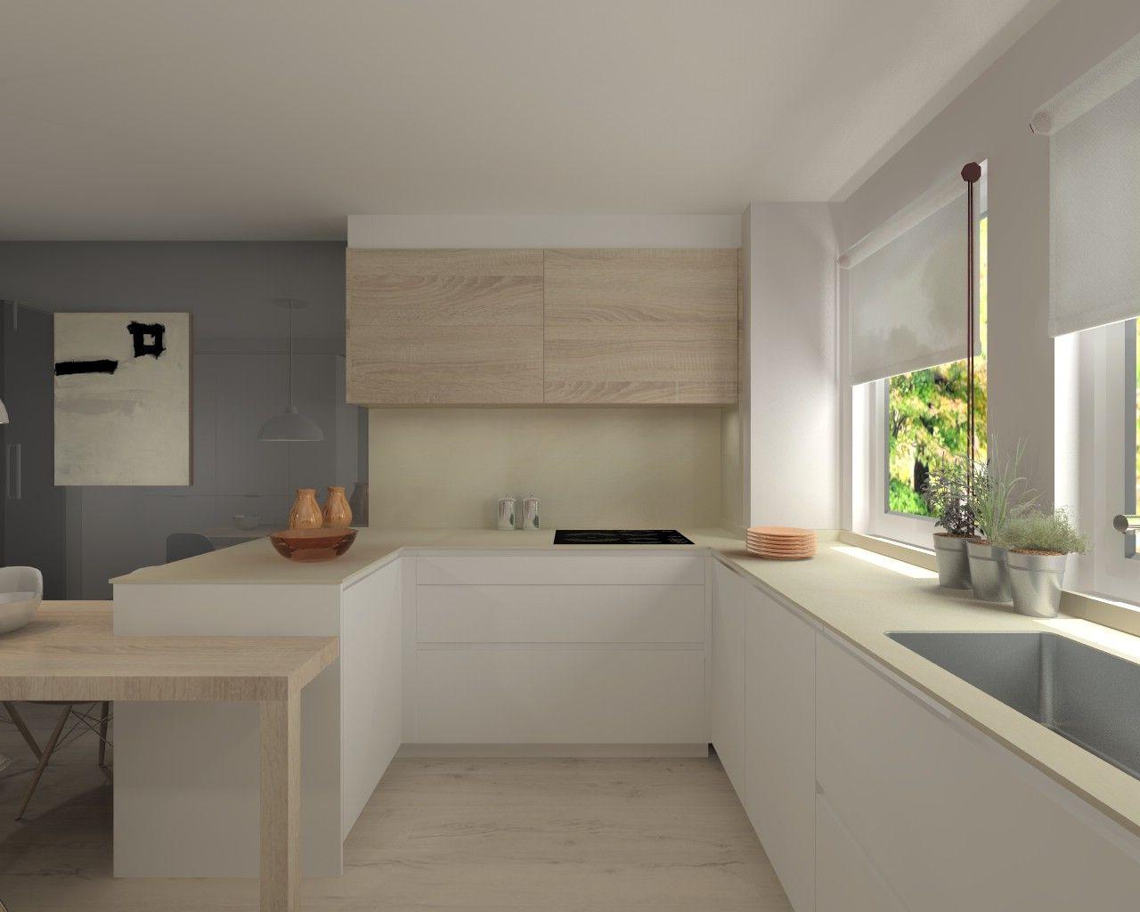 Proyectos de cocina en madrid cocinas pinterest for Cocinas en l modernas