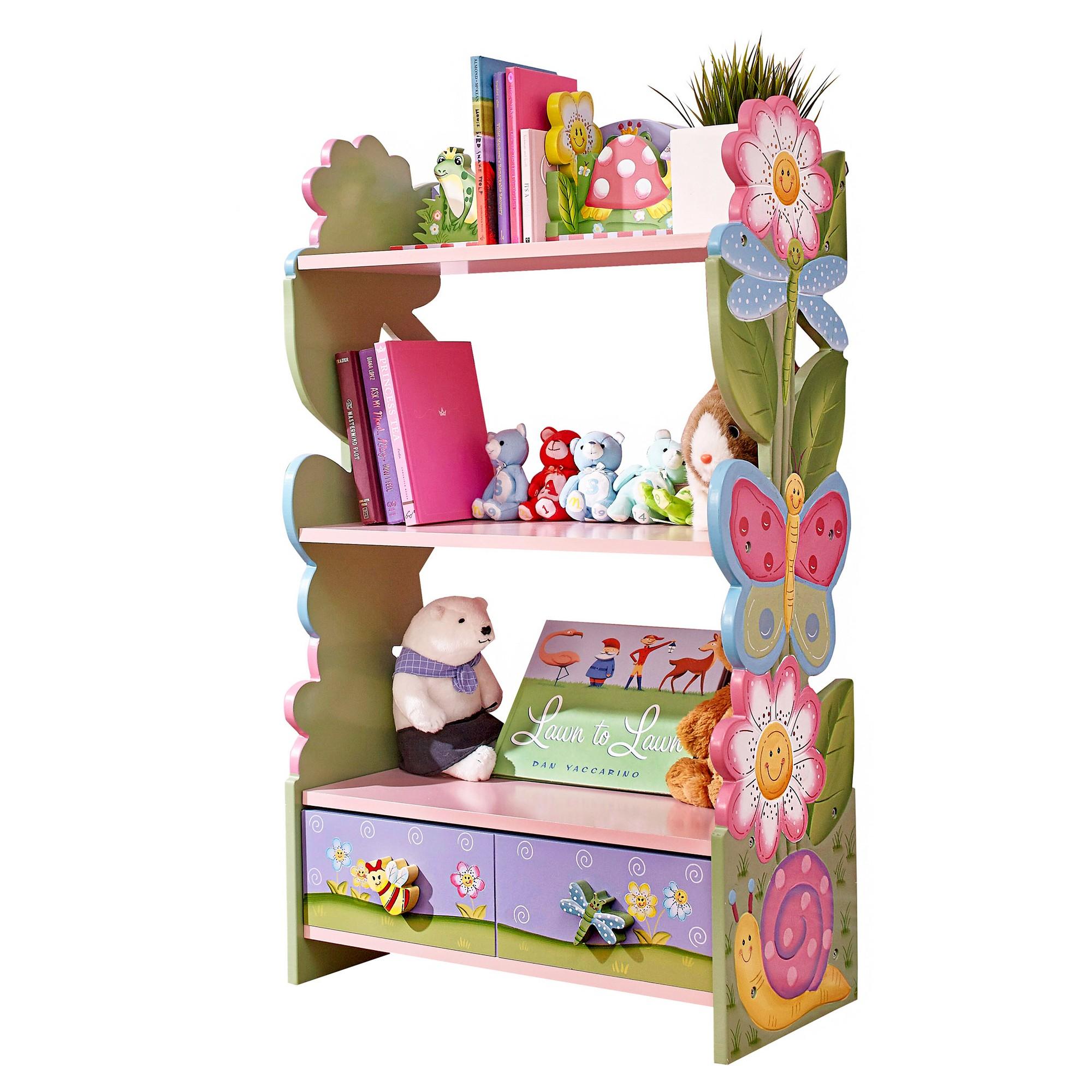 Magic Garden Kids Bookshelf With Hand Crafted Designs Fantasy Fields Bookshelves Kids Girls Bedroom Furniture Kids Furniture