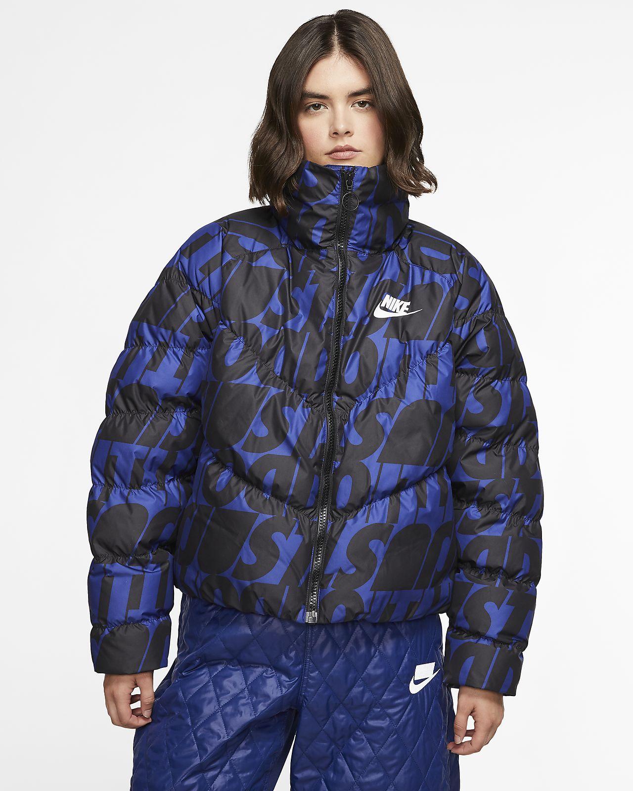 Nike Sportswear Synthetic Fill Jdi Women S Printed Jdi Jacket Nike Com Puffer Jacket Women Jackets Nike Sportswear [ 1600 x 1280 Pixel ]