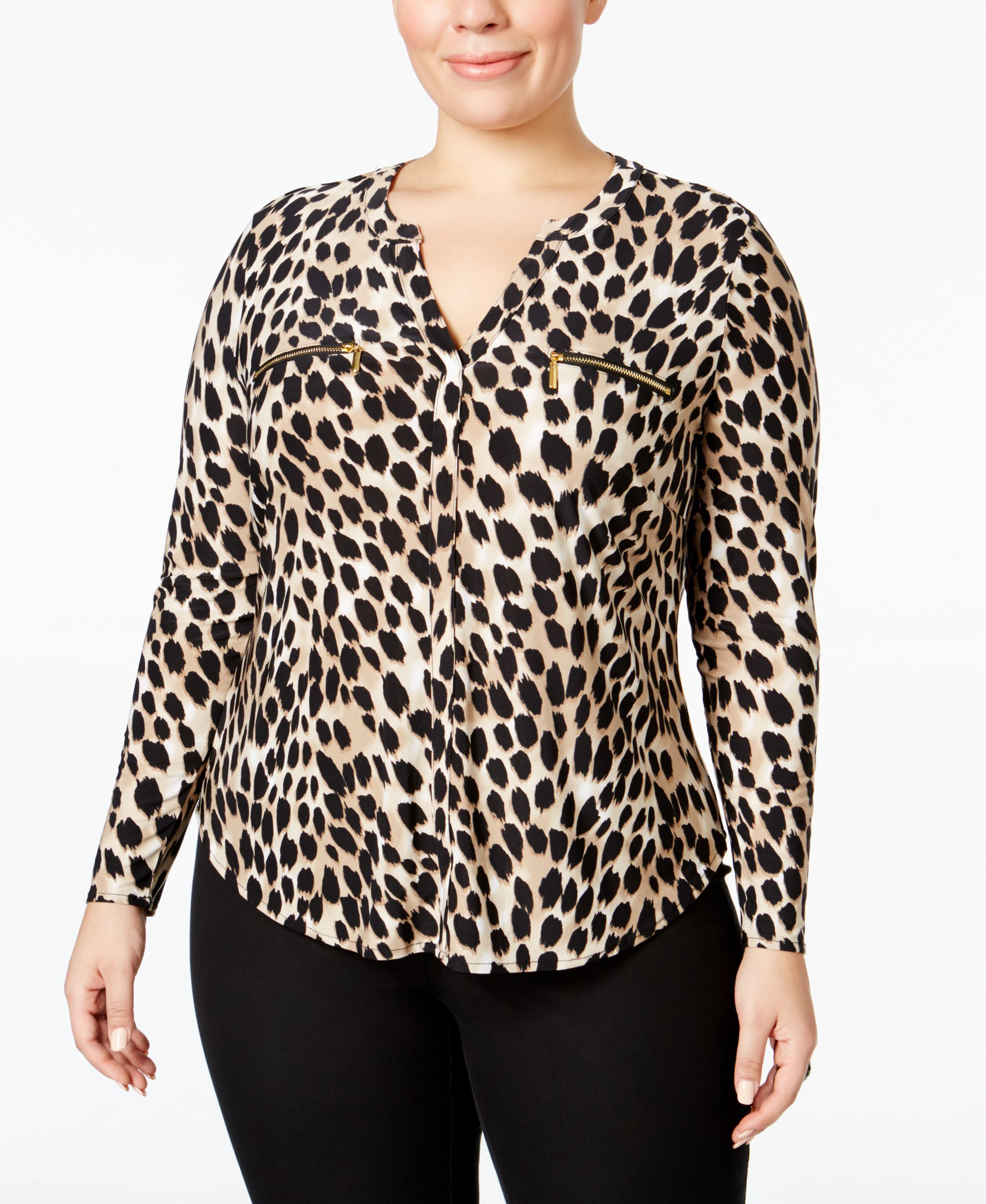 101e8c0bffb8c7 INC International Concepts I.N.C. Plus Size Animal-Print Top, Created for  Macy's & Reviews - Tops - Plus Sizes - Macy's