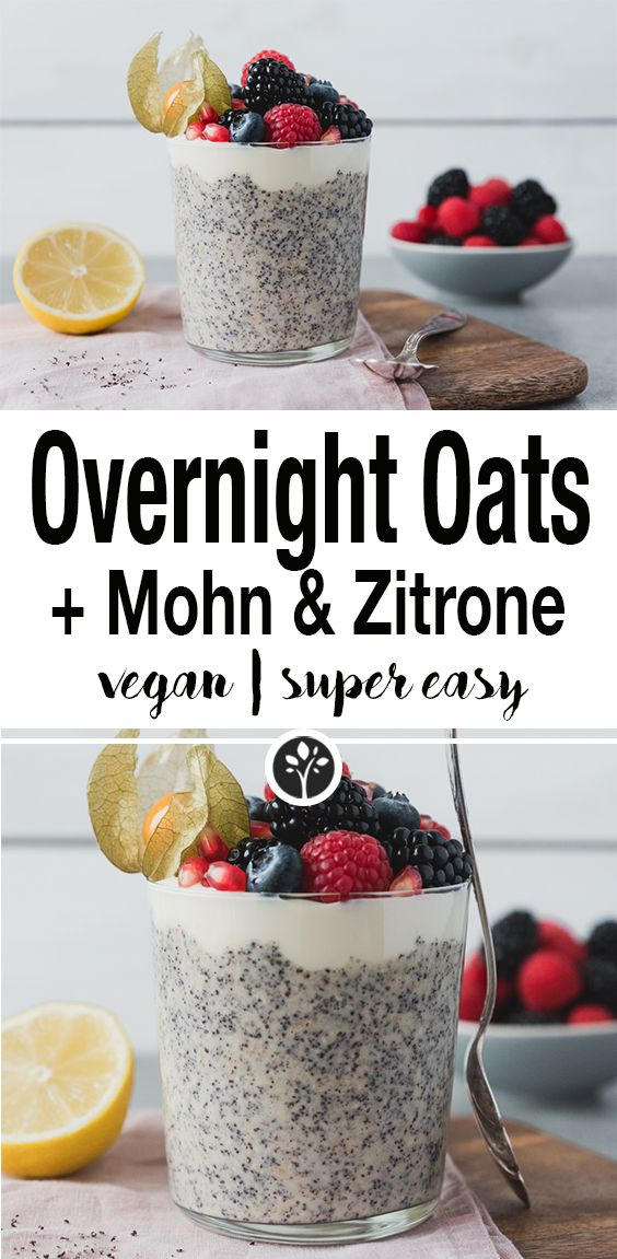 Overnight Oats mit Mohn & Zitrone