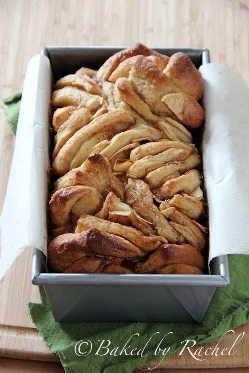 Apple Cinnamon Pull-Apart Bread - bakedbyrachel.com
