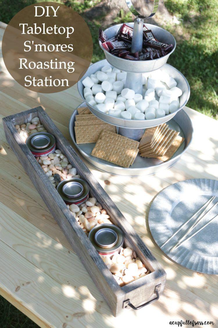 diy tabletop s u0027mores roasting station game changer tabletop and