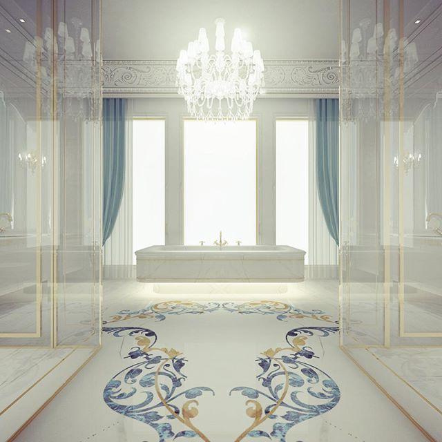Master Bathroom Design   Dubai  UAE