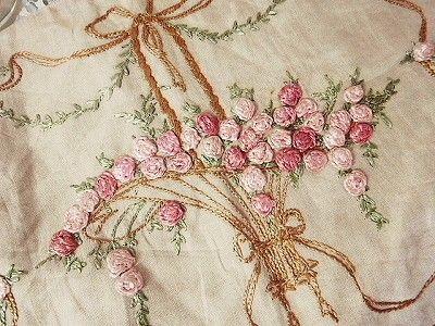 Pillow case embroidery basket - Antique Shop UK France Eglantyne ...