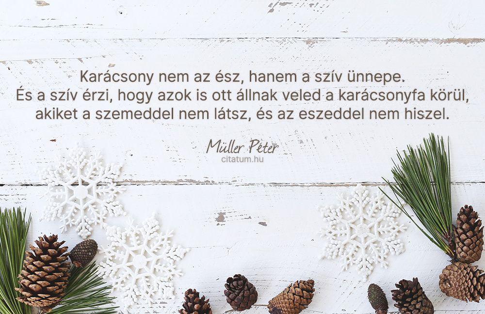 karácsonyi idézetek müller péter Müller Péter #idézet #karácsony | Christmas