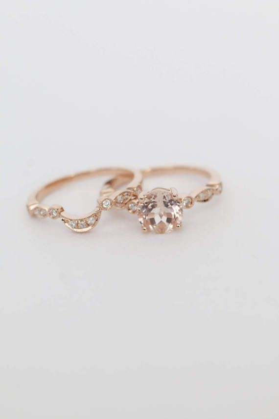 Rose Gold Morganit Verlobungsring Rose Gold Morganit Ring