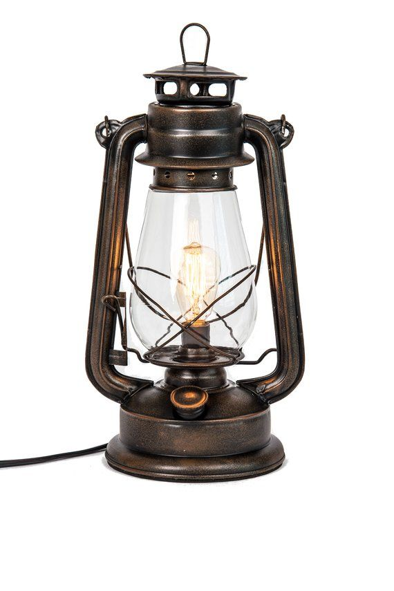 Electric Lantern Table Lamp With Inline Dimmer Control And Rustic Table Lamps Nautical Lamps Rustic Lamps