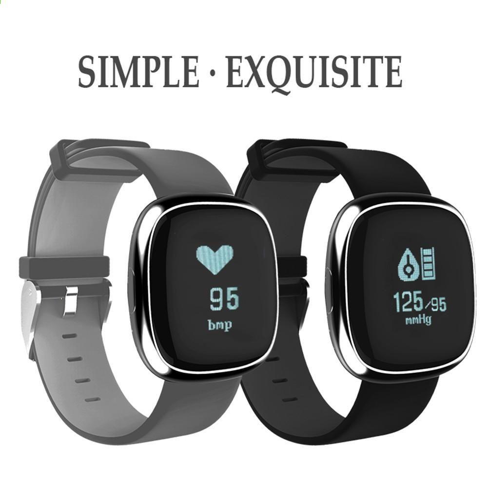 56c359a018f P2 À Prova D  Água de Negócios Bluetooth Pulseira Inteligente Relógio  Inteligente Suporte de Freqüência Cardíaca Monitoramento da Pressão  Sanguínea ...