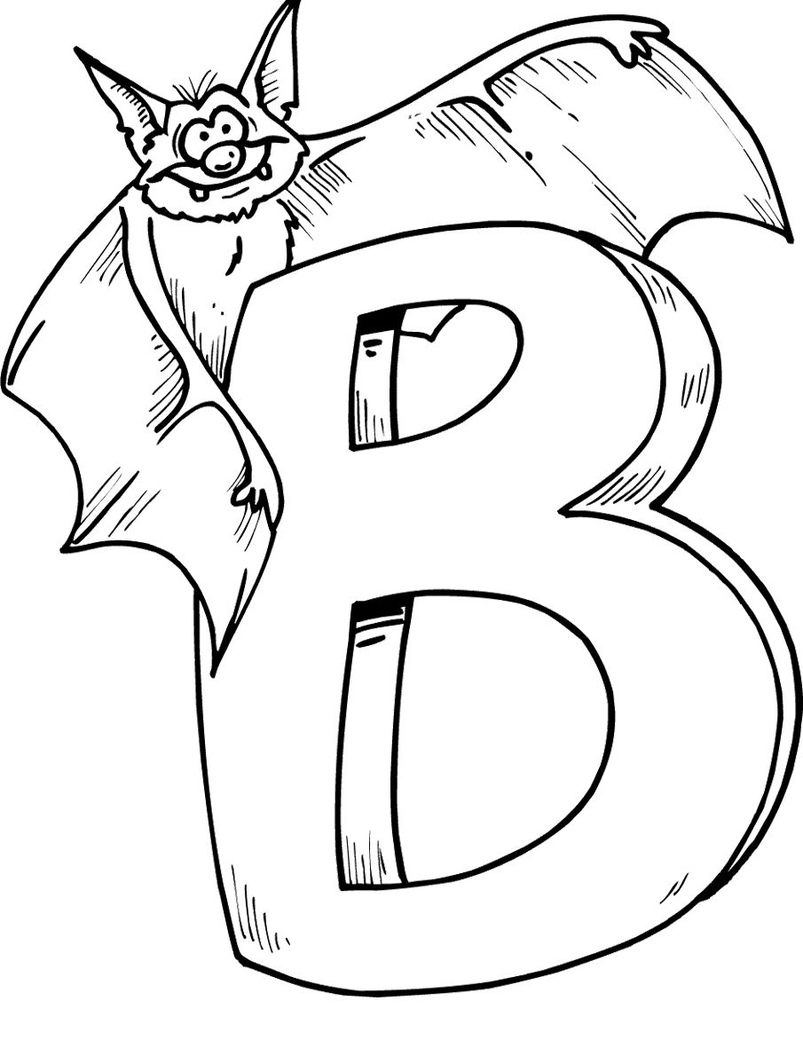 Activity Coloring Pages Letter B And A Spooky Bat Coloring Pages Kids Coloring Art Bat Coloring Pages Halloween Coloring Pages Letter B Coloring Pages