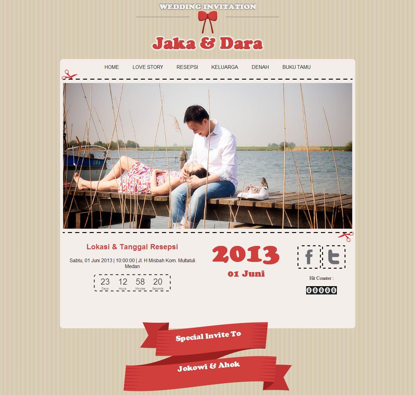 Design x banner pernikahan - Undangan Pernikahan Online Tema Vintage Datangya Com