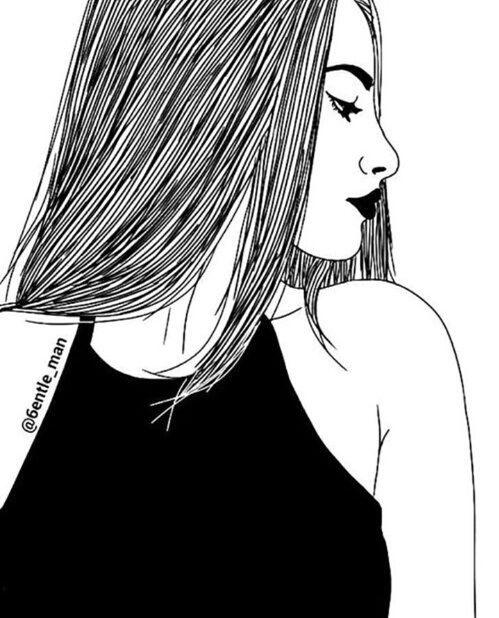 Dessin Fille Tumblr Girl Art Pinterest Tumblr Girl Drawing