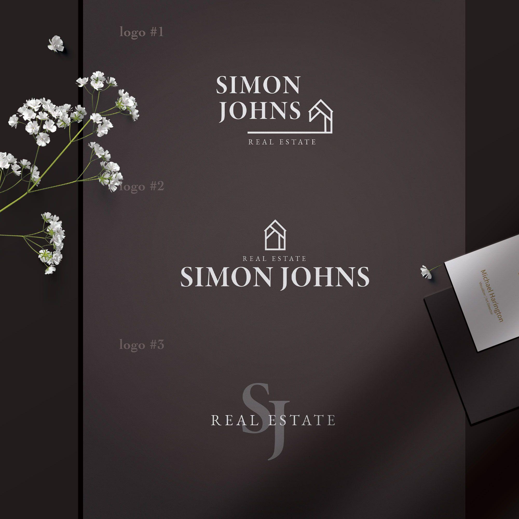 Signature Real estate logo design handwritten realtor