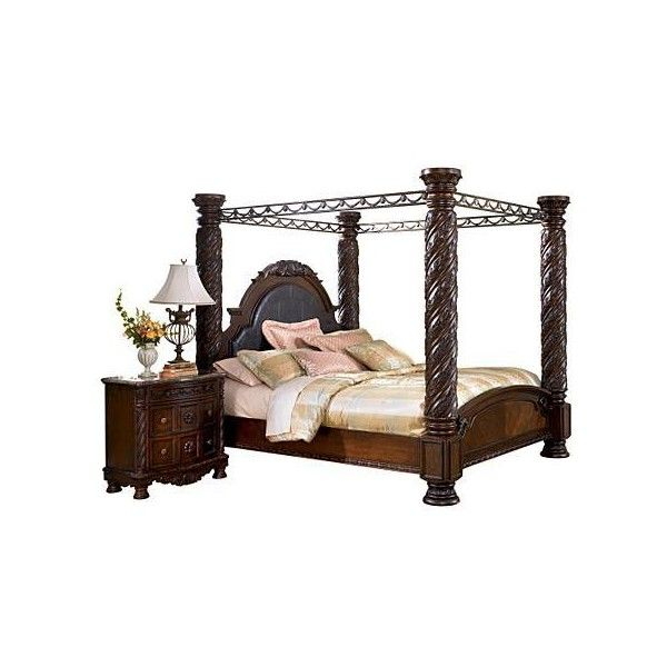 North shore california king canopy bed liked on polyvore for the home pinterest california for North shore california king canopy bedroom set