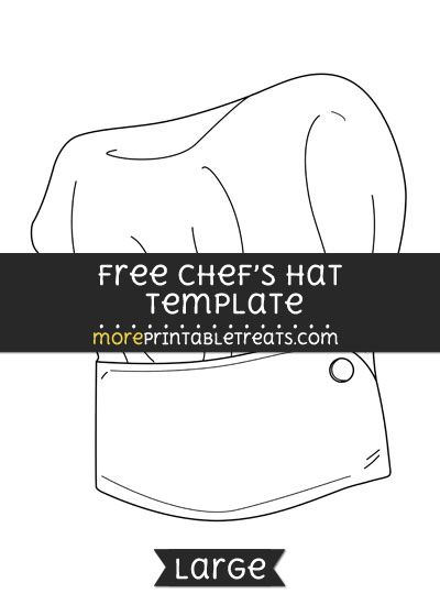 Chef Hat Pattern : pattern, Shapes, Templates, Printables