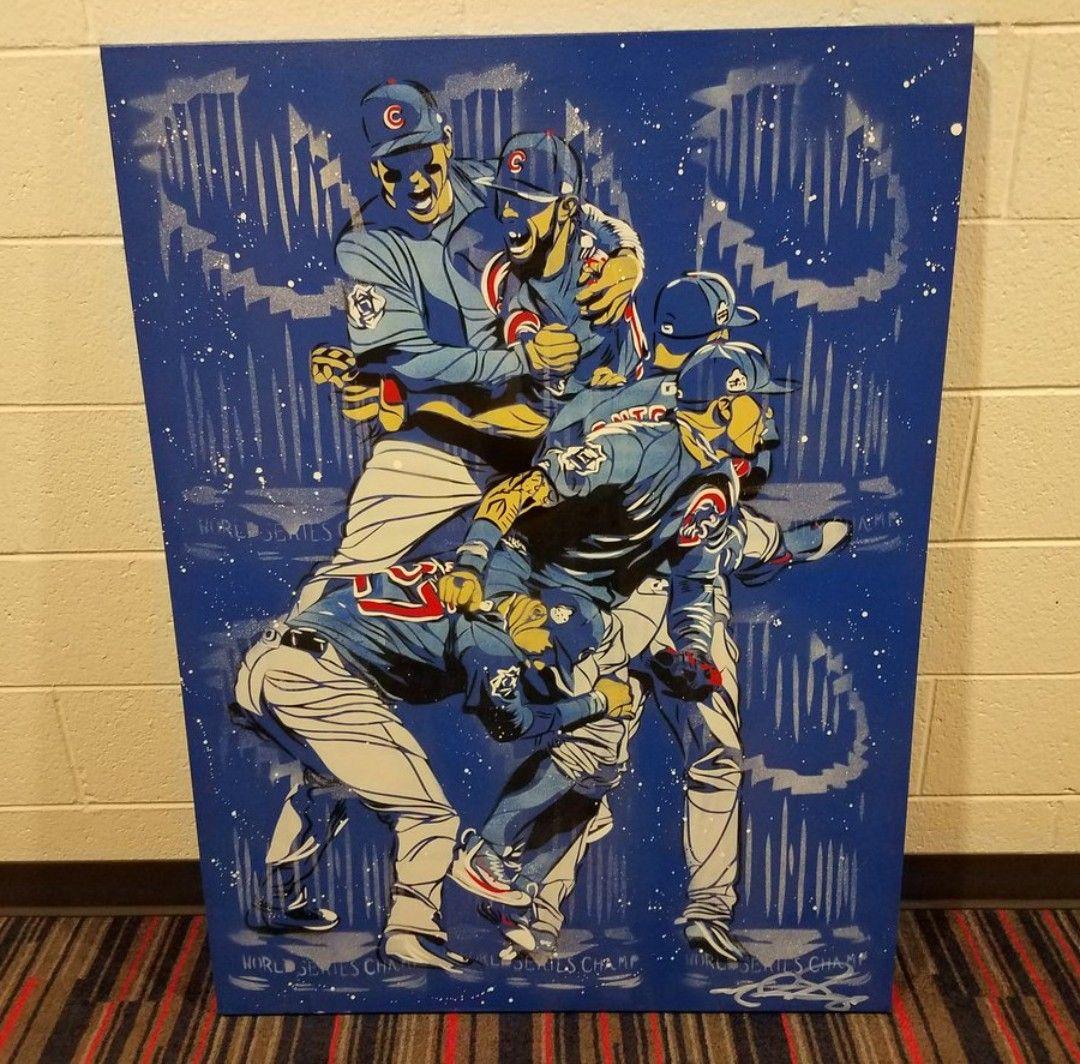 Painted by Matt Szczur World series, Cubs, Cubs fan
