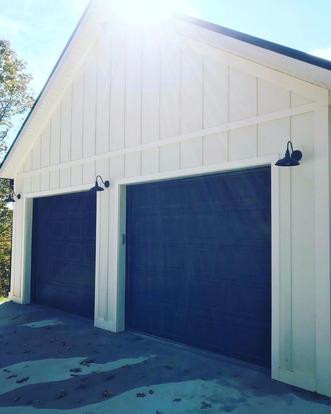 So Thankful Our Concrete Pad Was Poured So We Can Finally Have Clean Garage Doors Thanks For The Help Scrubbing Down Th In 2020 Clean Garage Concrete Pad Garage Doors