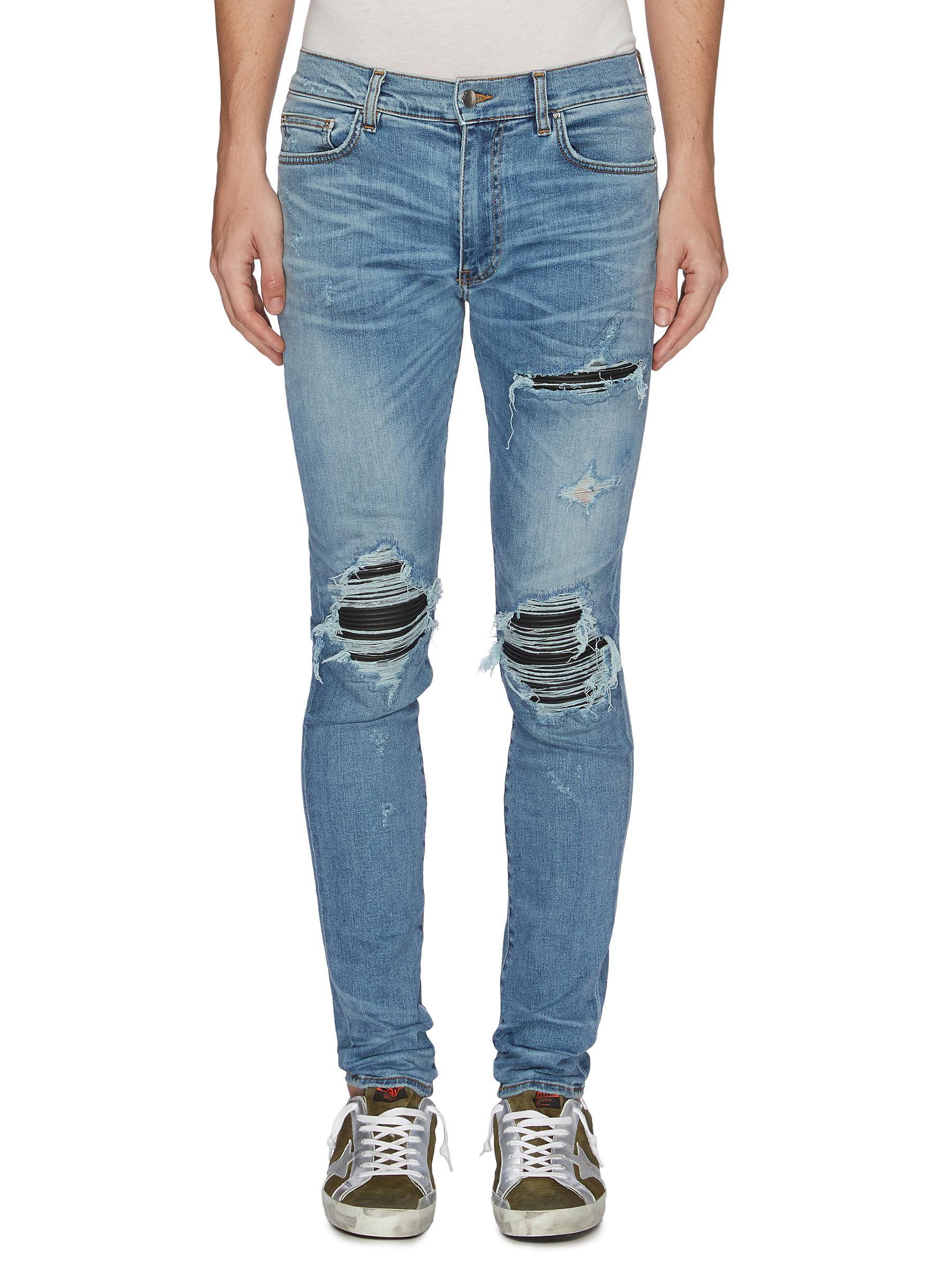 04a5b912603b0a AMIRI 'MX1' pleated leather patch jeans. #amiri #cloth | Amiri in ...