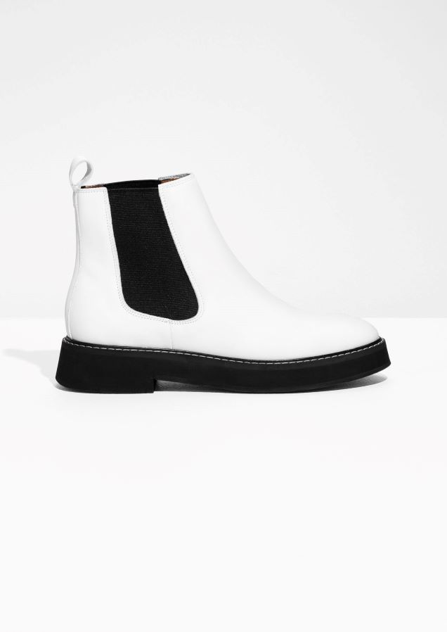242d63a6e62cf & Other Stories image 1 of Leather Chelsea Boots in White | SHOES ...