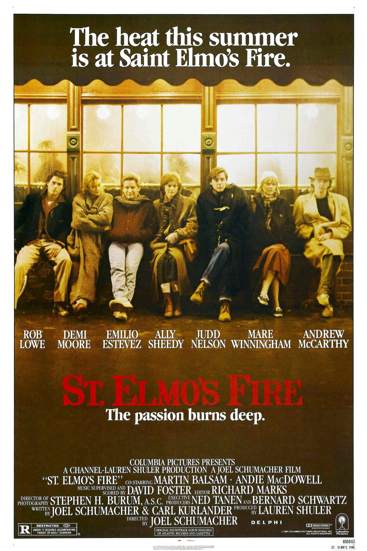 You break my heart. Then again, you break everyone's heart. St Elmos Fire