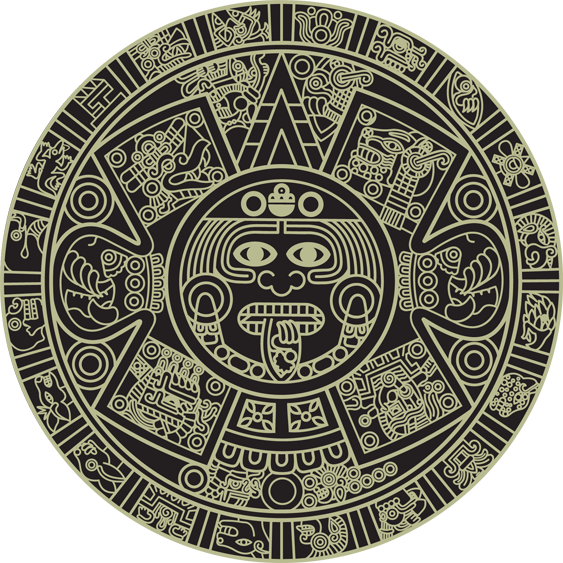 Aztec Calendar Mayan Art Aztec Calendar Aztec Art