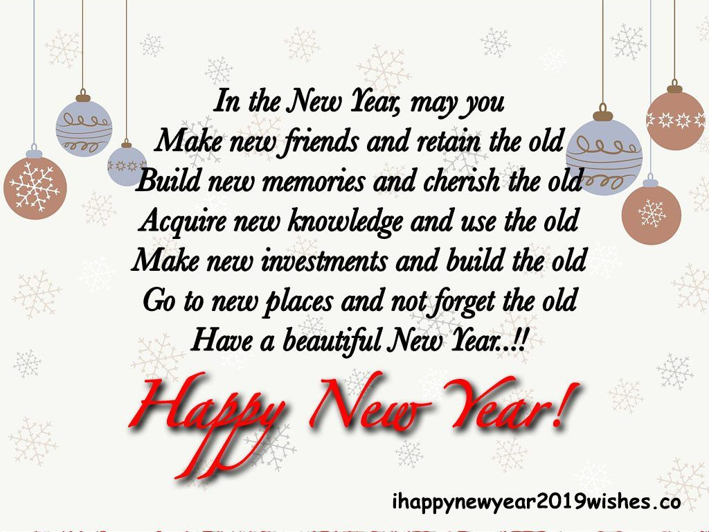 New Year Symbolizes The Beginning Of A New Calendar Year Heart Touching New Year Wishes For Friends I Wishes For Friends New Year Wishes Happy New Year Images