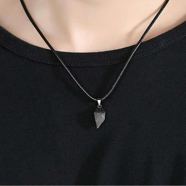 NOTE: In order to make a full heart, you must add two necklaces to your cart, one silver half and one black half. This beautifully handcrafted couples necklace is designed to show the true love that you have for your partner. Whether it's leaning in for a kiss or cuddling on the couch, your pendants will connect, showing how strong of a bond you share with your significant other. Valentines Day is approaching, which is why we are offering a special price for a limited time only. FOR A PAIR: add