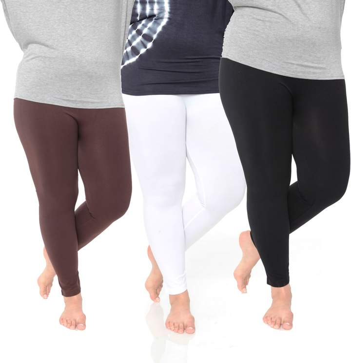 8f44674e461515 Plus Size White Mark 3-Pack Solid Leggings | Products | Pinterest ...