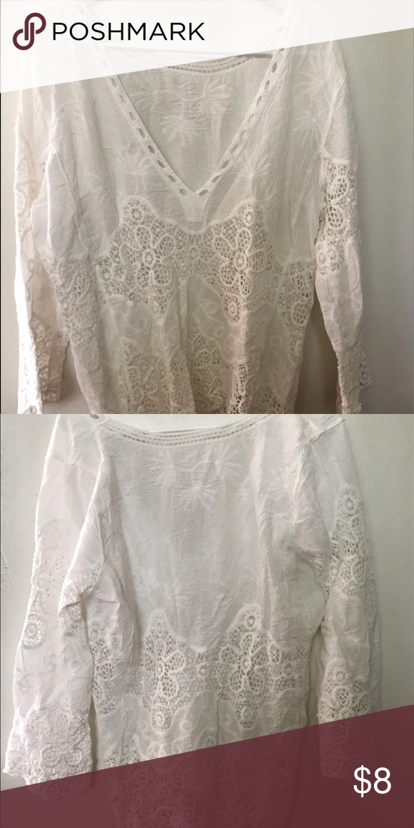 Beach Coverup Light and airy brand new lacy beach cover up. Swim Coverups
