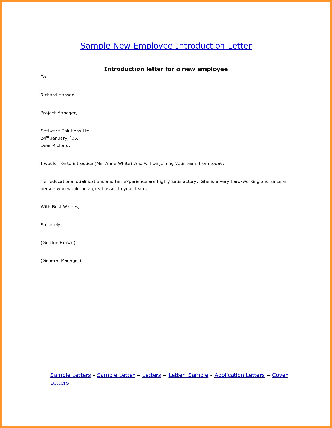 valid introduction letter for a job sample you can download for full letter  resume  template he