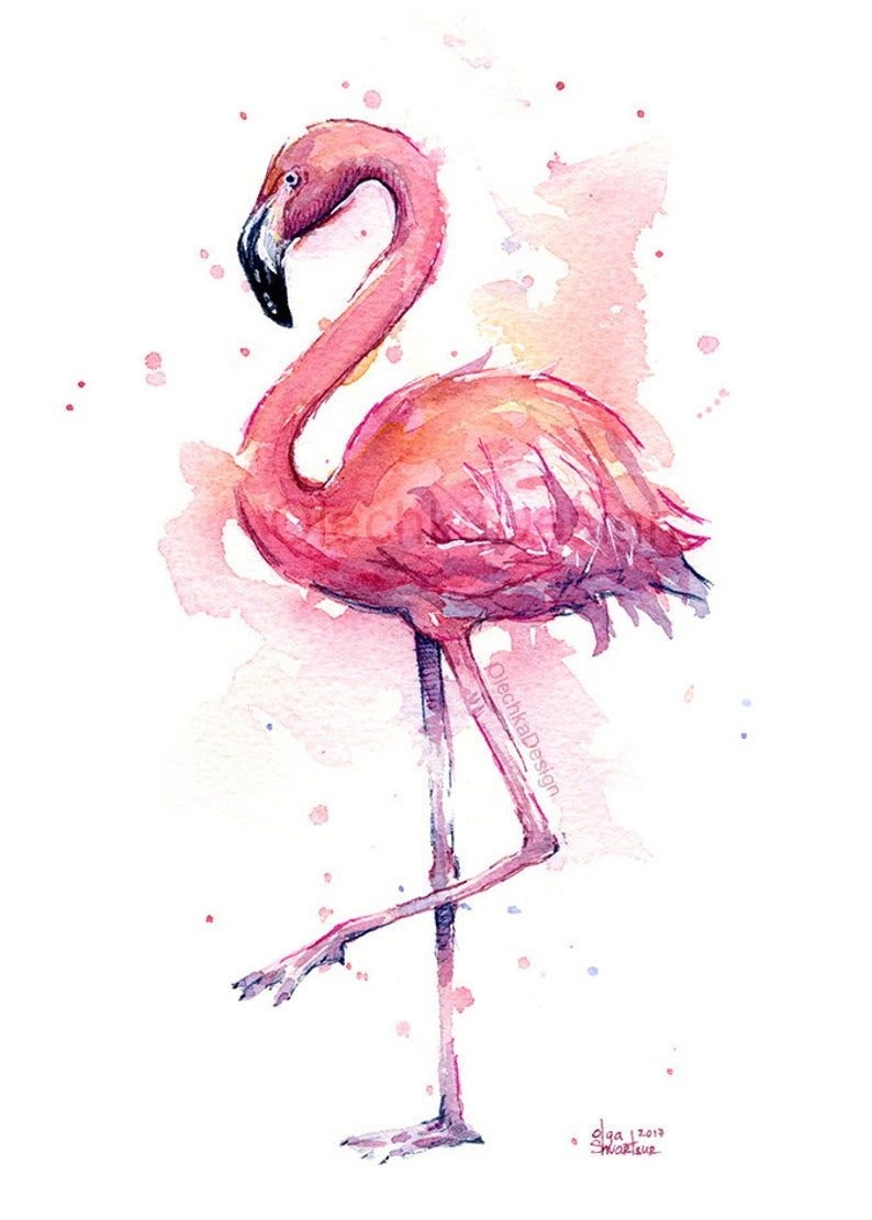 Pink Flamingo Watercolor Painting Flamingo Art Print Pink Bird Watercolor Animal Wall Art Home Decor Tropical Pink Flamingo In 2021 Flamingo Art Print Flamingo Painting Flamingo Wall Art