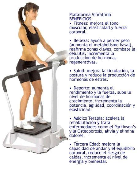 Tabla de ejercicios para adelgazar plataforma vibratoria