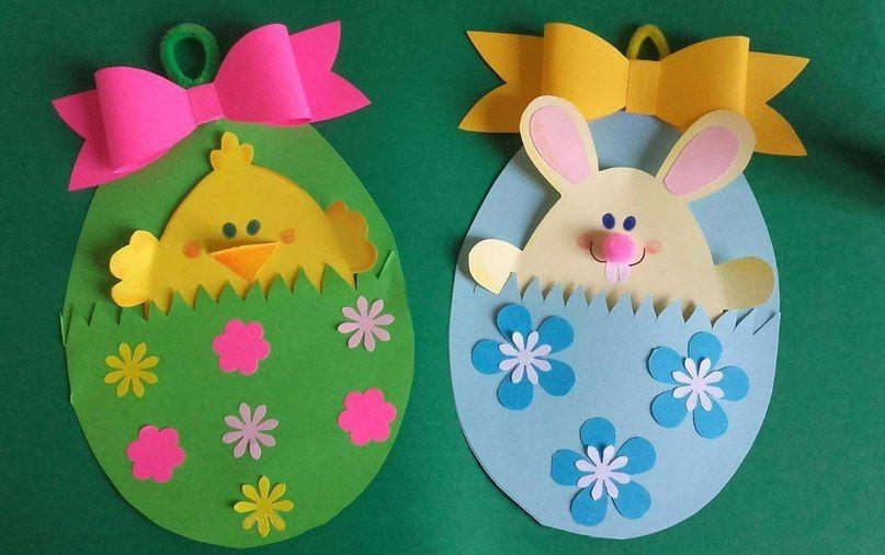 Пасхальные яйца открытки из бумаги поделки на пасху, сделать