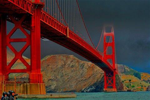 Great view under the Golden Gate Bridege