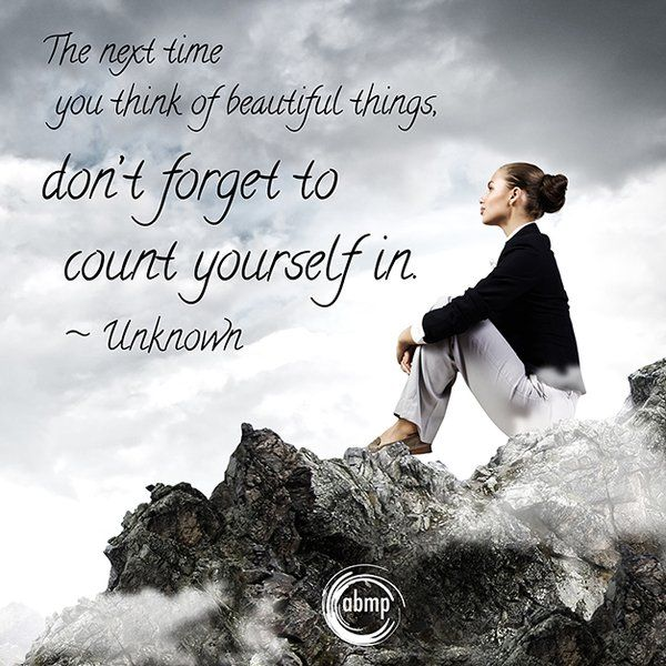 Don't forget to count yourself in...