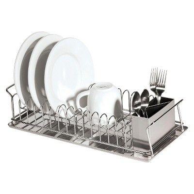 Dish Drainer 3 Pc Set Stainless Steel Utensils Dish Racks