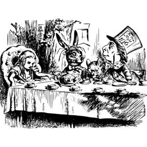 Vintage Alice in Wonderland Printables | Printable Vintage Alice In Wonderland Coloring Pages