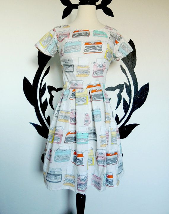 Write About Us Dress Nerdy Geeky Quirky Cute by PassionPeach, $56 50